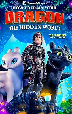 How to train your Dragon Hidden World 2019 NEW HD DVD *Free Shipping*