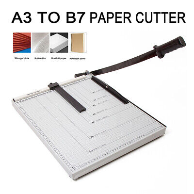 A3 to B7 Size Paper Cutter Guillotine Trimmer 15 Sheets B4 A4 B5 A5 B6 B7