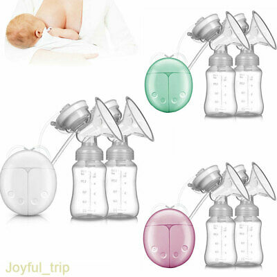 Electric Hand Free Breast Pump Automatic Double Intelligent Baby Feeder with USB