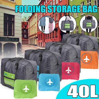 40L Travel Portable Waterproof Folding Storage Bag Shoes Clothes Luggage Case