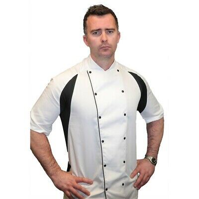 Le Chef Mens Thermocool Chefs Jacket White Xxs