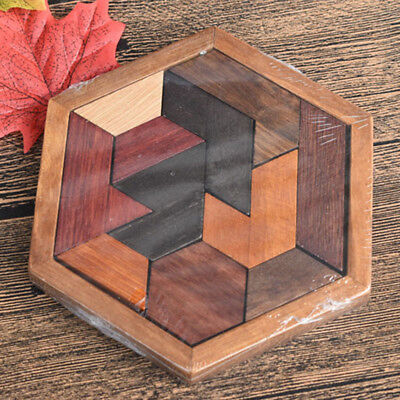 Wooden Geometric Abnormity Shape Puzzle Toys Kids Children Educational Toy