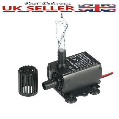 Decdeal DC12V 5W Ultra-quiet Brushless Water Pump Waterproof Submersible Z2I1