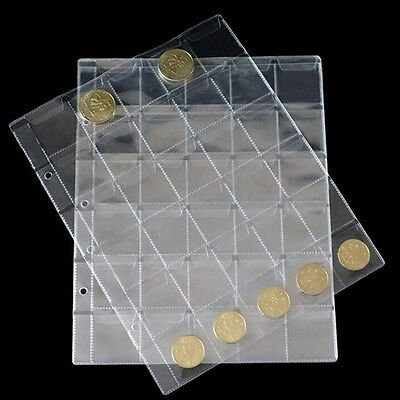 30 Classic Coin Collection Storage Album Page Folder Clear Pockets Holder Trendy