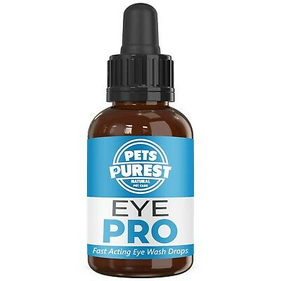 Pets Purest 100% Natural Eye Wash Drops For Dogs, Cats & Pets 1-2 Years Supply