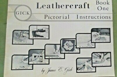 Vintage 1956 James GICK LEATHERCRAFT Pictorial Instructions Book One Tandy