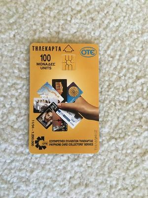 Rare 1994 Greece Greek Cosmote Ote Payphone Telephone Phone Prepaid Card Excelle