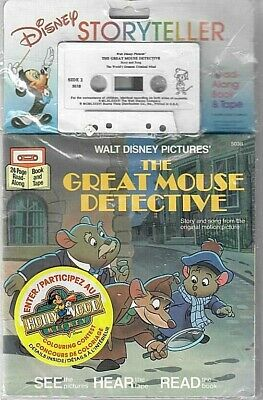 Walt Disney Story Teller Read Along Book & Tape * The Great Mouse Detective 1976