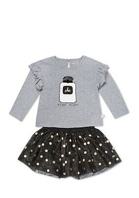 NWT Kate Spade Infant Girls LS Copy Cat Top /& Pink Skirt Set 12m 18m 24m NEW $54