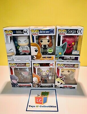 Funko POP Doctor Who Amy Pond ECCC Pennywise North Pole Batman Lying Cat 6pk Lot