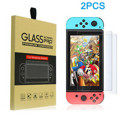 For Nintendo Switch Console 2X Premium Clear 9H TEMPERED GLASS Screen Protector