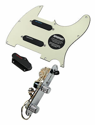 Fender Tele Telecaster Loaded Pre-wired Pickguard Lace Sensor Blue Silver Red MG