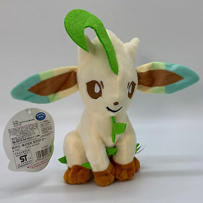 "Pokemon Leafeon Plush Soft Toy Stuffed Animal Doll Teddy 7"" Sitting"