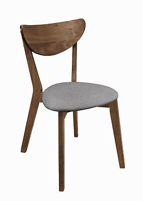 Alfredo Upholstered Dining Chairs Natural Walnut (Set of 2)