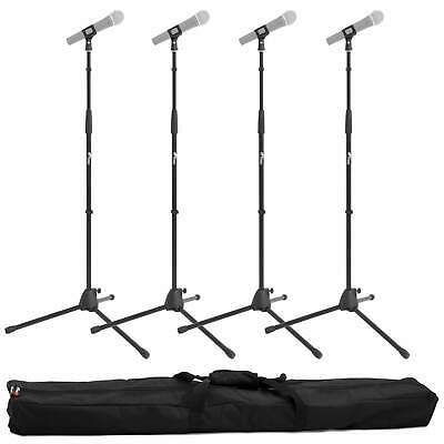 Tiger Microphone Stand with Tripod Base - Pack of 4 with Bag