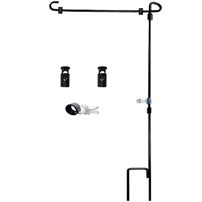 Garden Flag Stand-Holder-Pole with Garden Flag Stopper and Anti-Wind Clip 36....