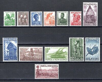 PAPUA NEW GUINEA 1952 sg1-13 SHORT SET TO 2/6 VERY LIGHTLY MOUNTED MINT CAT £21