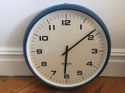 Large Brights Of London Factory School Wall Clock Lovely