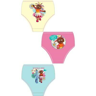 3 Pairs Girls In The Night Garden Knickers Underwear Briefs 100% Cotton Ages 2-4