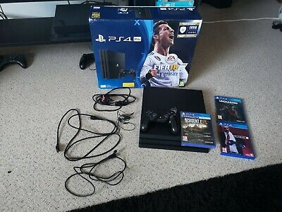 Sony Playstation 4 Pro 1TB Game Console - Black incs 3 games