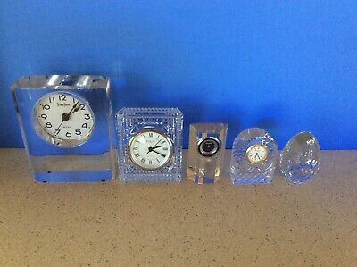 Waterford, Neiman Marcus, Villeroy & Boch, Rogaska egg and Crystal clock lot