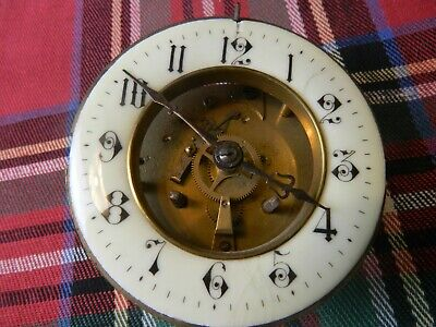 vintage brass clock parts