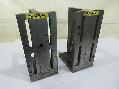 "8"" x 18"" x 10"" JC Busch Co Slotted Right Angle Iron Plate, Pair"