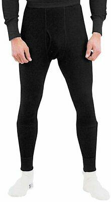 Black Cold Weather Winter Thermals Knit Underwear Bottoms Pants Long Johns