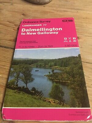1991 Ordnance Survey Landranger Map 77 Dalmellington To New Galloway