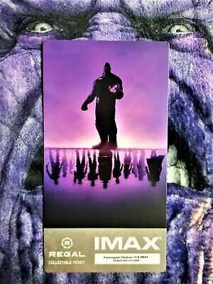 Avengers Endgame Week 1 IMAX Regal Collectible Ticket ! 301 Out Of 1,000 !