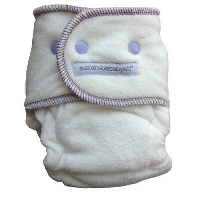 Sloomb Happy Little Clouds Bamboo Fitted Diaper