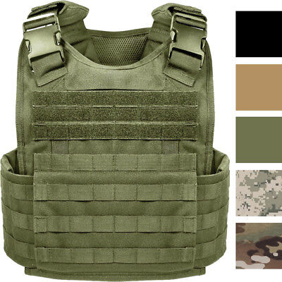 Tactical Plate Carrier Vest Assault Military Combat MOLLE Modular Adjustable