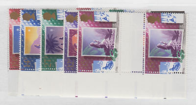 Great Britain - 1988 Christmas Set Gutter Pairs. Sc. #1234-8, SG#1400-4. Mint NH