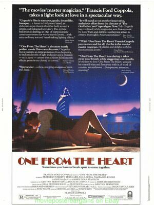 One From The Heart Affiche Film N.Mint 30 par 102cm Francis Ford Coppolla 1982