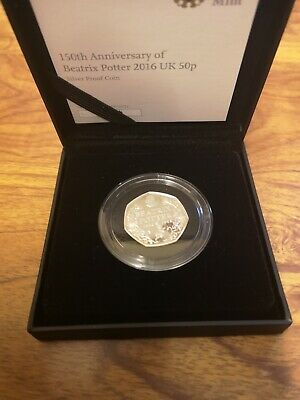 2016 silver proof 50p fifty pence coin 8g : Beatrix Potter 150th Anniversary