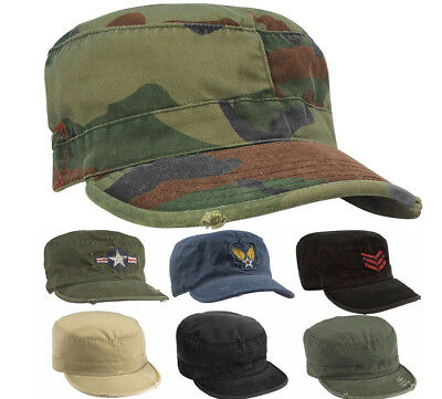 Woodland Camouflage Patrol Cap Military Army Patrol Fatigue Hat Rothco 4510