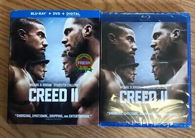 #BRAND NEW# CREED II (Blu-ray + DVD + Digital) w/Slipcover 2018