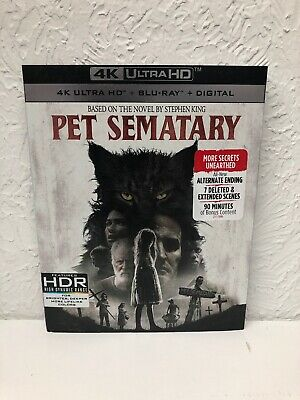 Pet Sematary 2019 4K Ultra HD + Blu Ray + Digital HD Brand New Sealed!!