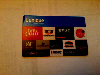 L'unique gift card for Swiss Chalet--east side marios--Montana's-Harvey's,,,,