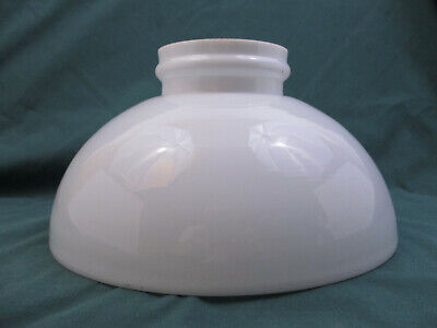 "Oil Lamp Student Shade Rayo Aladdin - Shiny Milk White Glass - 10"" (76B6)"