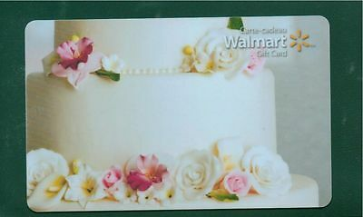 Wedding Cake 2015 GIFT CARD FROM WALMART BILINGUAL NO VALUE *new*