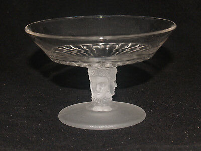 Antique Victorian Eapg Pattern Glass Three Face Duncan No. 400 Compote Dish