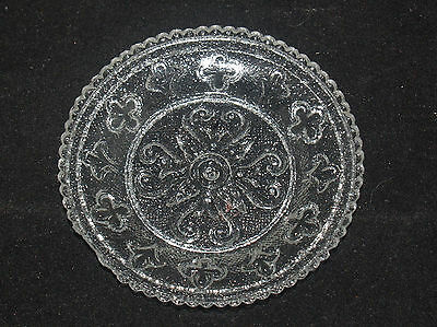 Antique Sandwich American Glass Cup Plate Lee 262 Lacy Period