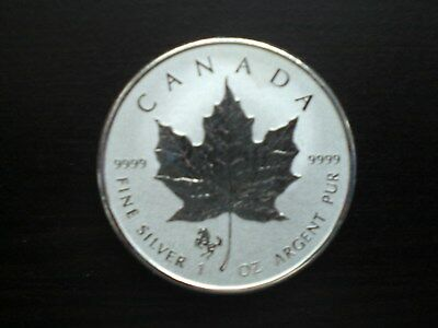 2014 RCM 1 oz Silver Maple Leaf Horse Privy (Royal Canadian Mint) 9999