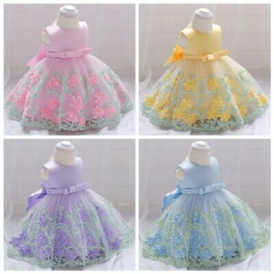 Toddler Baby Girl Party Tutu Dress Pageant Wedding Birthday Princess Christening