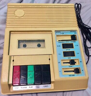 LIBRARY OF CONGRESS C-1 CASSETTE PLAYER Tape Player For The Blind Vintage