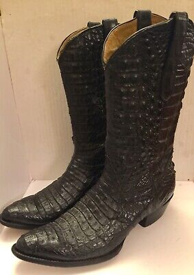 e50fb696044 LUCCHESE M0702.C2 MENS Dustin Belly Caiman Roper Boot Round Toe 9 ...