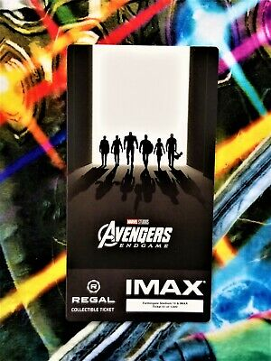 Avengers Endgame Week 2 IMAX Regal Collectible Ticket #41 Out Of 1,000 !