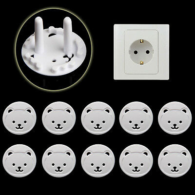 5 X PowersKid Socket Cover Baby Child Protector Guard Mains Point Plug Bear Chic