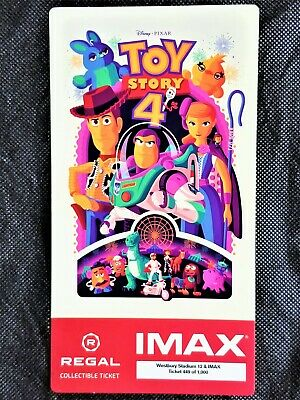 Toy Story 4 IMAX Regal Collectible Ticket ! #449 Out Of 1,000 !